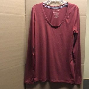 Long sleeve, burgundy shirt, used
